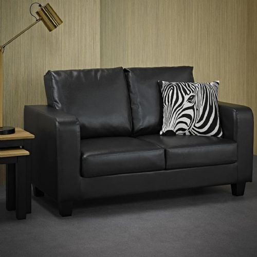AXE 156 Faux Leather Black  Box  Sofa From Denelli